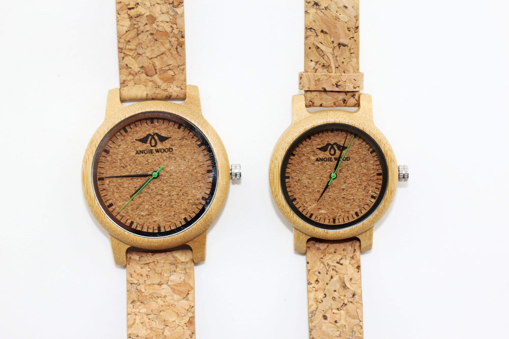 Cork Couple Wood Watch,Personalized watch,Cork,*W157
