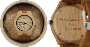angiewoodcreations Wood watch Not engraved Engraved Bamboo Women's Watch With Bamboo Dial and Aztec Design,Couple Wood Watch,Women Watch,Watch,Personalized Wood Watch,Wood Watch(W086)