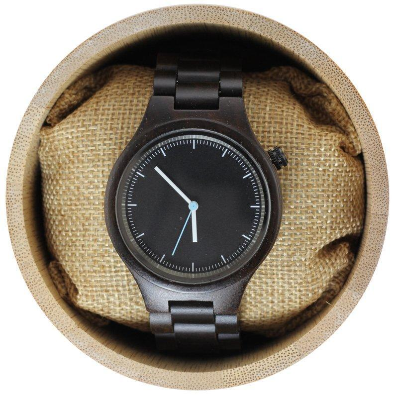 Angiewoodcreations Wood watch Not engraved Engraved Dark Sandalwood Unisex's Watch With Matching Bracelet,Wood Watch,Personalized Wood Watch,Men Watch,Fiance &Grooms Wood Watch (W006)