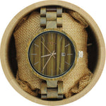 Engraved Green Sandalwood Unisex's Watch, Wood Watch, Personalized Wood Watch(W062)