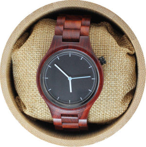 Angiewoodcreations Wood watch Not engraved Engraved Red Sandalwood Unisex's Watch With Black Dial,Unisex red scandal Wood watch,Personalized watch,Woman wood watch,Men WoodWatch(W001)