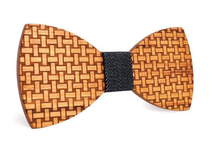 Angiewoodcreations Wooden bow tie Not Engraving 100% Natural Eco-friendly handmade Wooden Bow Tie