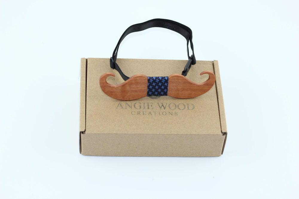 Angiewoodcreations Wooden bow tie Not Engraving on wood bowtie 100% Natural Eco-friendly handmade Wooden Bow Tie