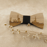 Angiewoodcreations Wooden bow tie Paris Skyline Wooden bowtie *Paris, NewYork, Chicago, Tokyo, London, Rome, Athens, Vancouver,Washington DC