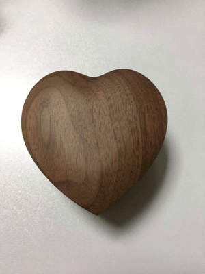 AngieWoodCreationsCo Engrave Bamboo Box 1)Walnut wood / Engrave Love Heart Personalized Ring Box - Custom Wood Ring Box - Ring Bearer Box - Proposal Ring Box - Anniversary Gift - Wedding,