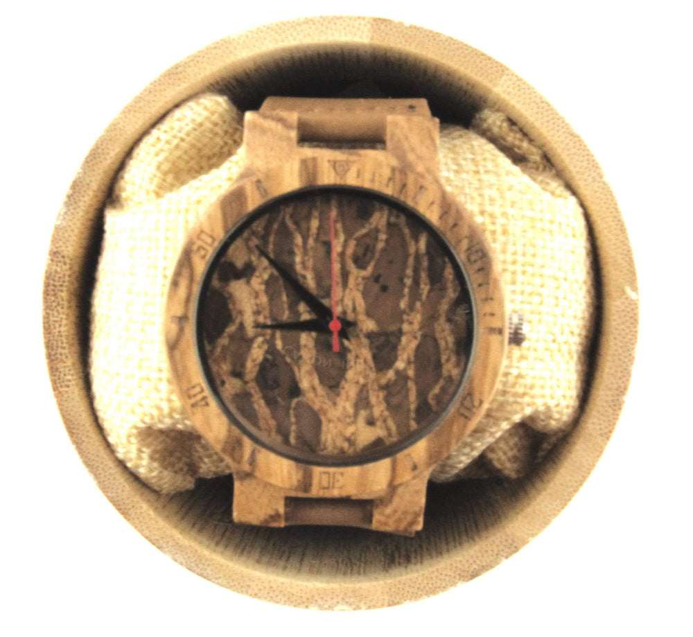 AngieWoodCreationsCo Leather/PU Men WoodWatch Creative Simple Wood Watches, Men's Watch Cork Slag/Broken Leaves Face Wrist Watch Original Wooden Bamboo Men Clock,Cork watch,Marble watch