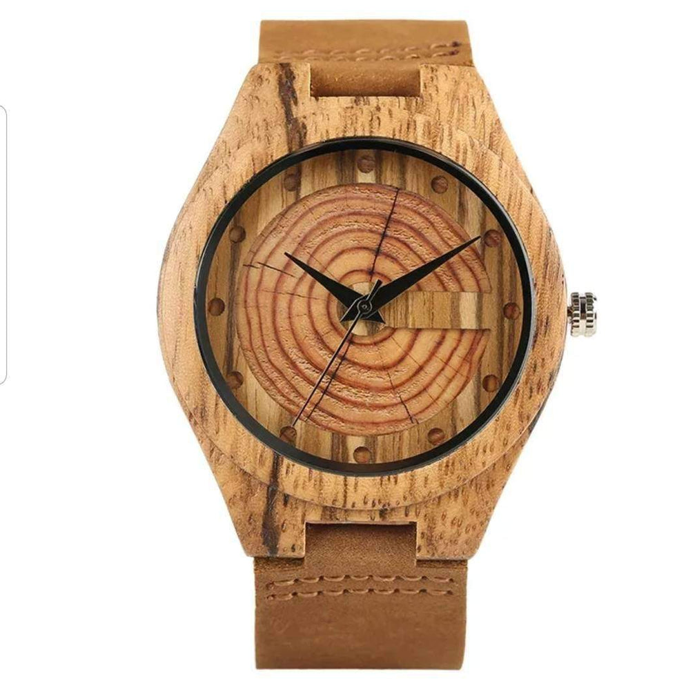 Creative Simple Wood Watches, Men's Watch Cork Slag/Broken Leaves Face Wrist Watch Original Wooden Bamboo Men Clock,Cork watch,Marble watch