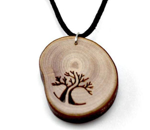 AngieWoodCreationsCo Wood Necklace & Earrings Engrave unique wood pendant from branches,Engrave necklace,Wood necklace,Wood pendant,Wood jewerly,Wooden pendant,Wood men necklace,Women