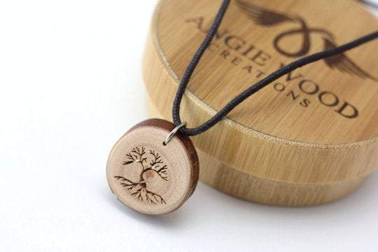 Engrave unique wood pendant from branches, Engrave wood necklace, Engrave men necklace,Wood pendant,Wood necklace,Men wood necklace, Women