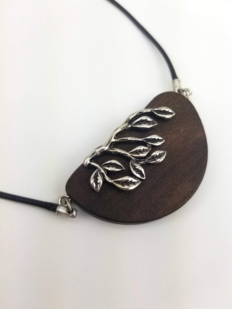 Engrave Wood Necklace, Personalized Wood Necklace, Unique wood pendant from branches,Wood necklace,Love wood necklace,Love tree necklace
