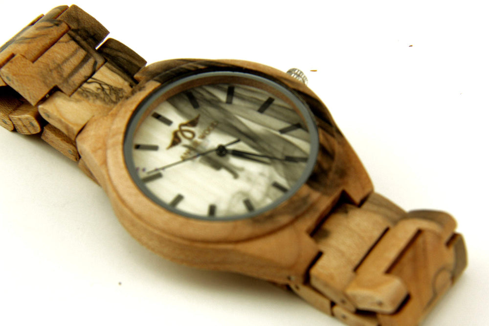 Engraved Bamboo Men's Watch with Pale Bamboo Dial, Wood Watch,Personalized Wood Watch,Men Watch,Fiance Wood Watch,Grooms Wood Watch (W180)