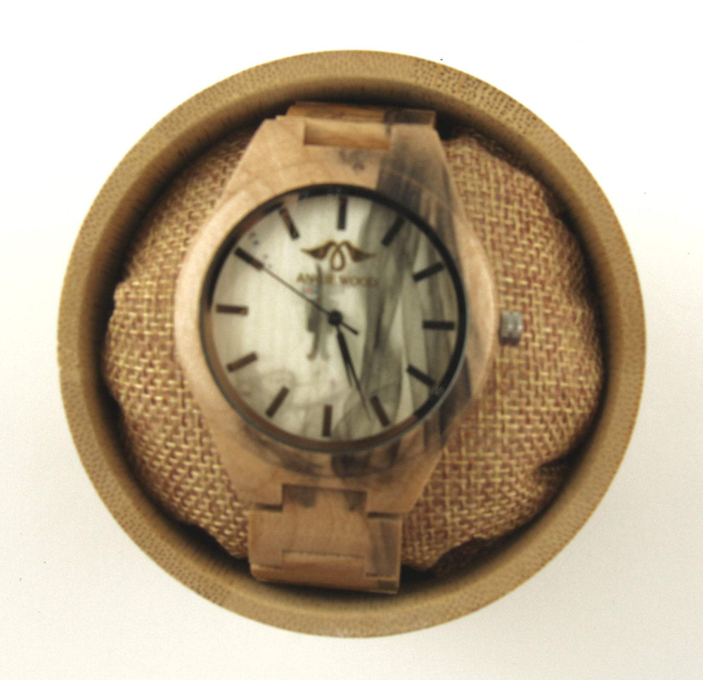 AngieWoodCreationsCo Men Wood Watches Engraved Bamboo Men's Watch with Pale Bamboo Dial, Wood Watch,Personalized Wood Watch,Men Watch,Fiance Wood Watch,Grooms Wood Watch (W180)