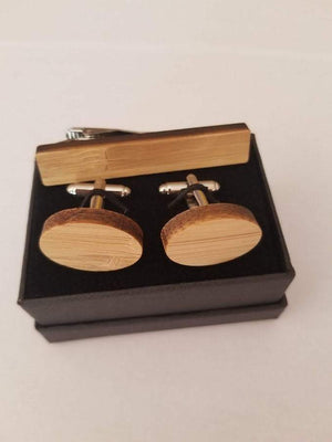 AngieWoodCreationsCo Cufflinks and Tie Clips Engraved cufflink,bamboo cufflink,wood cufflink,setmustache tieclip,Mustache tieclip,Oval Wood cufflink,Engraved groomsman cufflink,Cufflink
