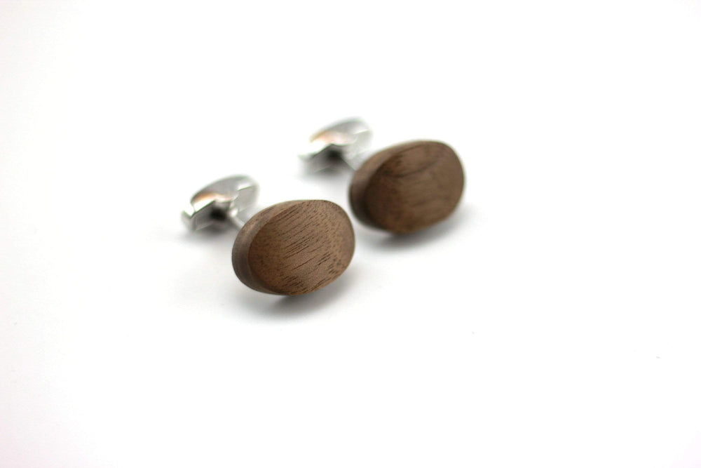 AngieWoodCreationsCo Cufflinks and Tie Clips Engraved cufflink, wood cufflink, men cufflink