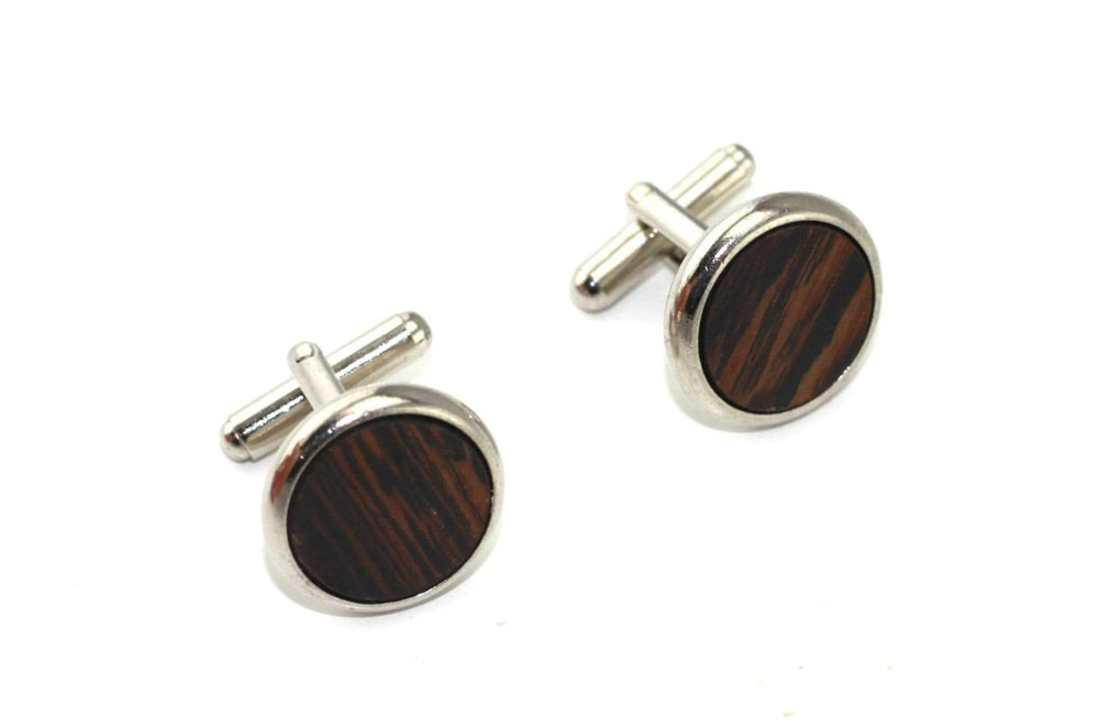 AngieWoodCreationsCo Cufflinks and Tie Clips Engraved cufflink, wood cufflink, men cufflink,men accesories,shirt accesories,husband gift,personalized cufflink,Groomsman cufflink,CL004
