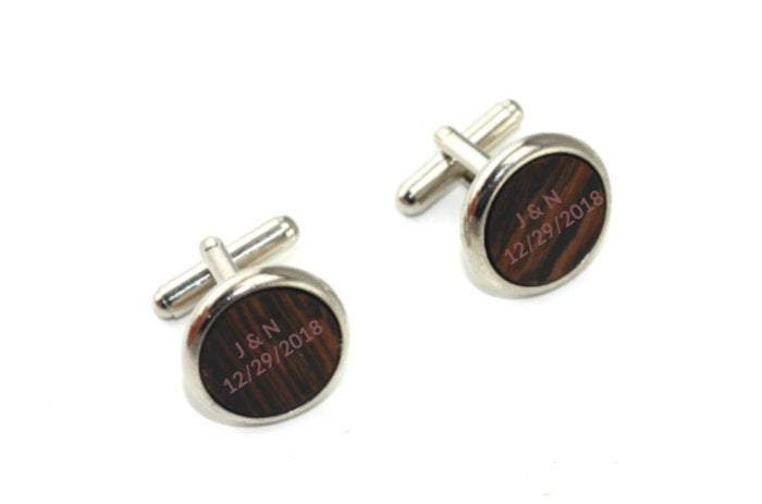 Engraved cufflink, wood cufflink, men cufflink,men accesories,shirt accesories,husband gift,personalized cufflink,Groomsman cufflink,CL004