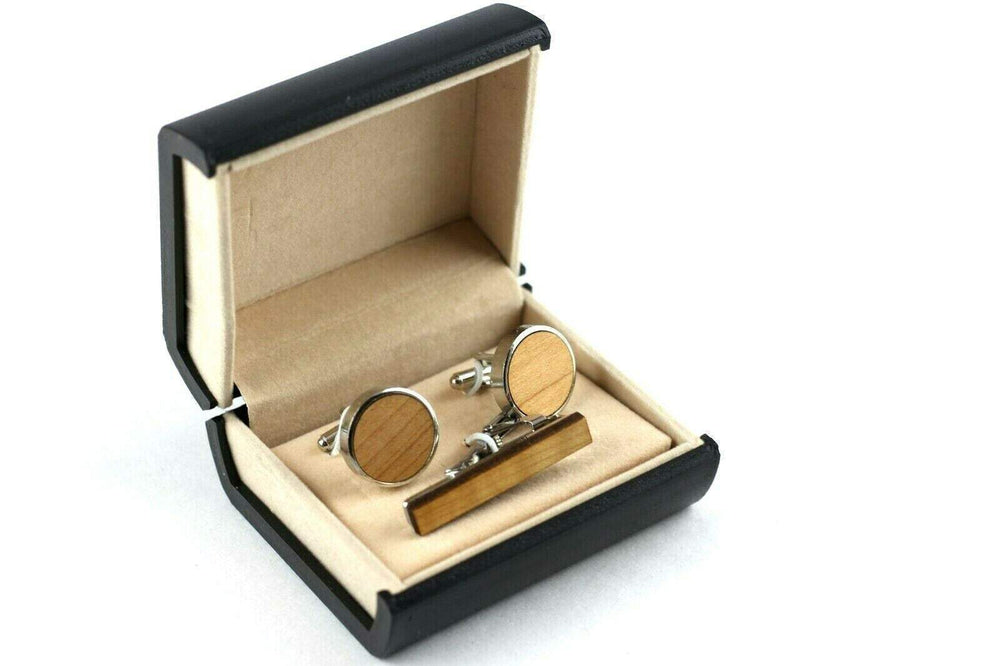 Engraved cufflink, wood cufflink, men cufflink,set cufflinks and tie clip,cufflink and tieclips,Men tie clip,Wood tie clip,Wood cufflinks