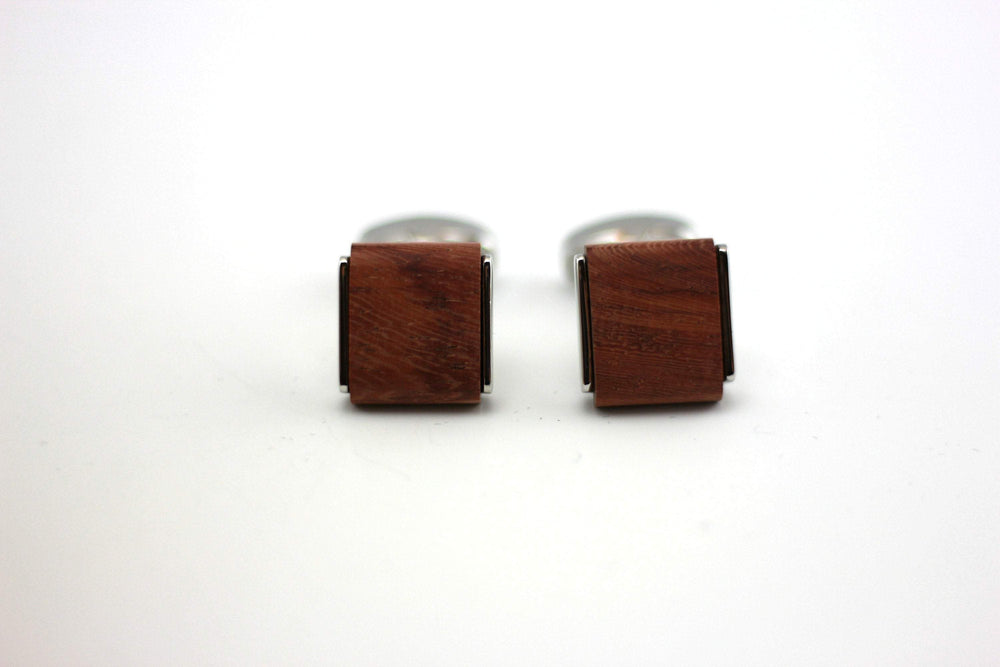 AngieWoodCreationsCo Cufflinks and Tie Clips Engraved cufflink, wood cufflink, men cufflink,Wooden cufflinks (CL010)