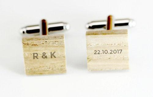 Engraved cufflink, wood cufflink, men cufflink,Wooden cufflinks,Wood,Groomsman cufflinks,Grooms gift,Personalized cufflinks,Engraved (CL001)