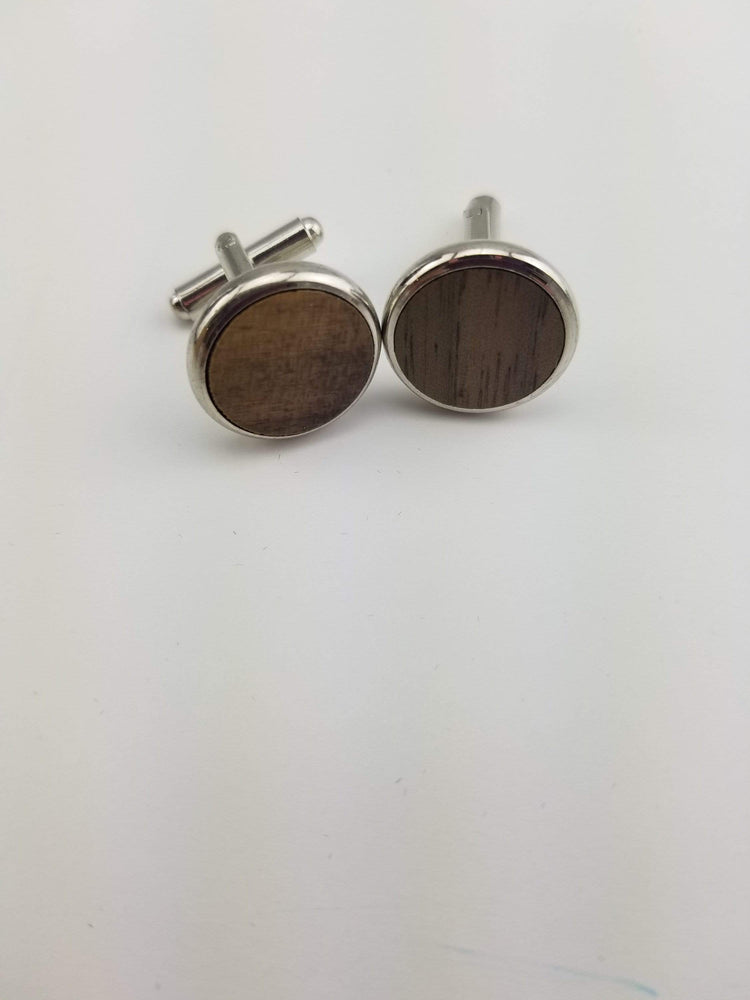 AngieWoodCreationsCo Cufflinks and Tie Clips Engraved cufflink, wood cufflink, men cufflink,Wooden cufflinks,Wood,Groomsmen cufflinks,Grooms gift,Personalized cufflinks,Engraved (CL003)