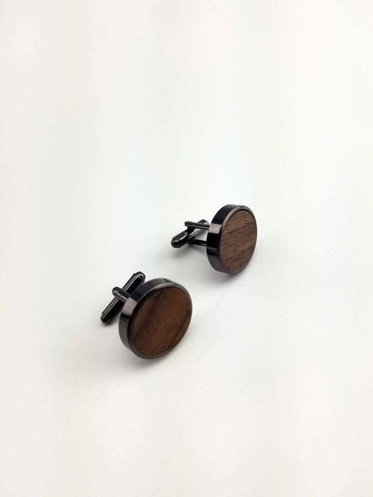 AngieWoodCreationsCo Cufflinks and Tie Clips Engraved cufflink, wood cufflink, men cufflink,Wooden cufflinks,Wood,Groomsmen cufflinks,Grooms gift,Personalized cufflinks,Engraved (CL032)