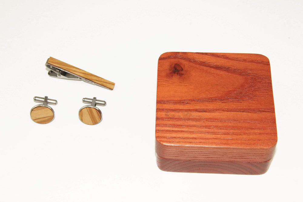 AngieWoodCreationsCo Cufflinks and Tie Clips Engraved set cufflink,wood cufflink, men cufflink,set cufflinks and tie clip,cufflink and tieclips,Men tie clip,Wood tie clip,Wood cufflinks