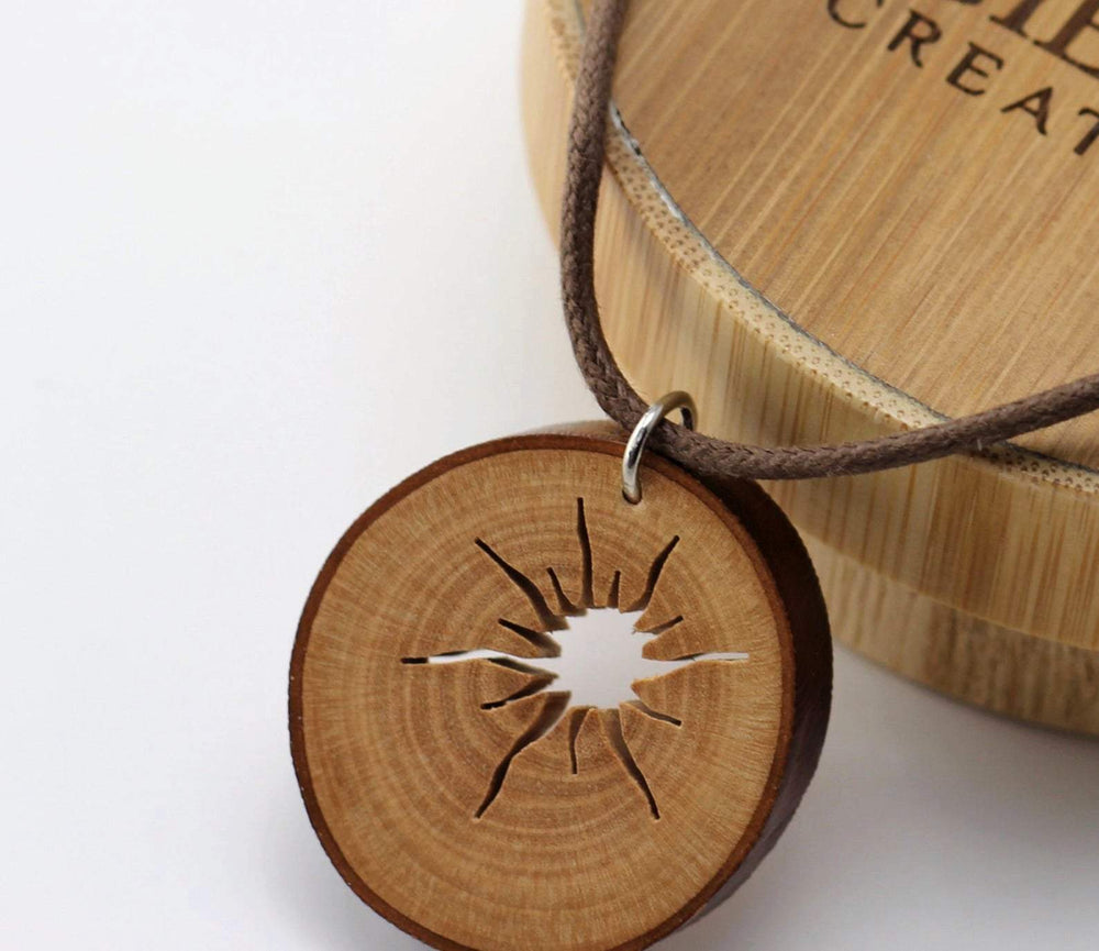Handcraft unique wood pendant from branches,Engrave wood necklace,Women wood necklace,Unisex necklace,Men necklace, Wooden pendant,Wood