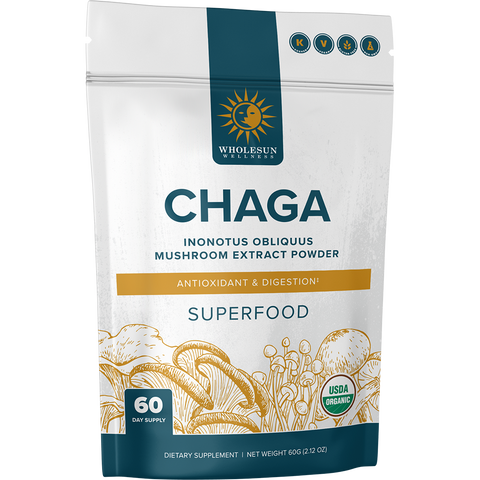 Organic Chaga Extract Pouch - Front