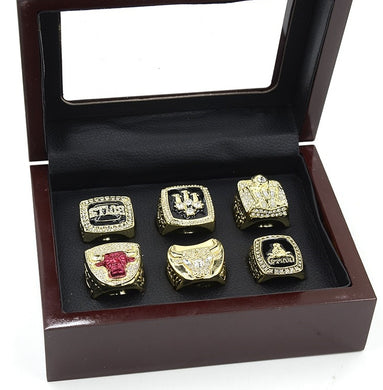 Chicago Bulls Championship Rings - Set of 6