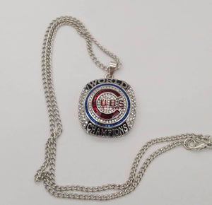 Chicago Cubs World Series Championship Necklace