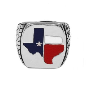 TEXAS Flag Ring - Stainless Steel