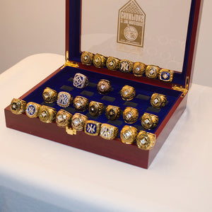 21 Pieces 1923 to 2009 New York Yankees WS Championship Ring Set
