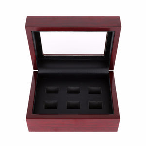 6 Holes Elegant Wooden Ring Display Box