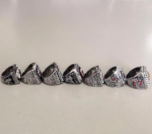 Ohio State Buckeyes NCAA National Championship Ring 7 PCs Set 2002 2008 2010 2014 2014 2014 2015 - SIZE 11