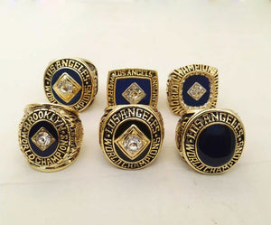 Los Angeles Dodgers World Series Championship Rings Set 6 PCS - 1955/1959/1963/1965/1981/1988