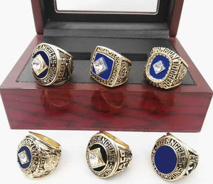 Los Angeles Dodgers World Series Championship Rings Set 1955/1959/1963/1965/1981/1988