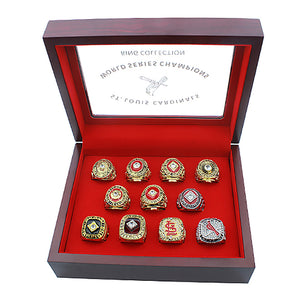 St. Louis Cardinals 11pcs set Championship Rings - Size 11