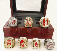 Alabama Crimson Tide Championship Ring Set 7 pieces