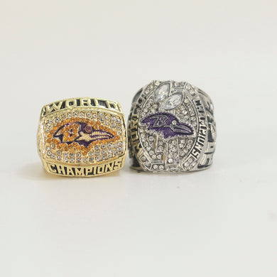 2000 and 2012 Baltimore Ravens Championship Ring Set - Size 11