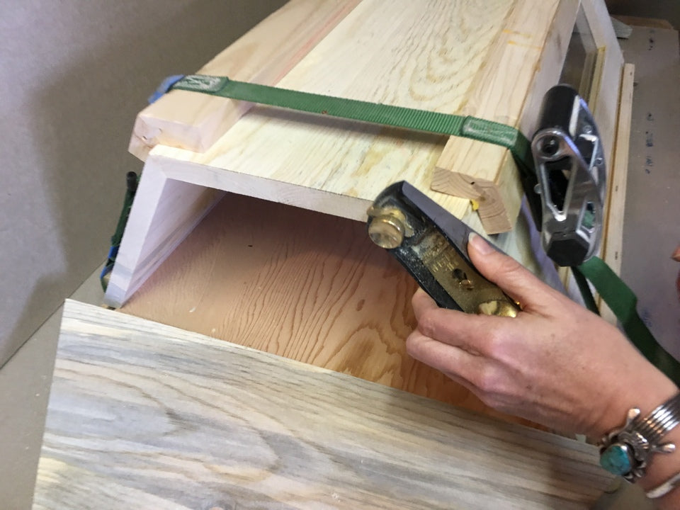 Gluing Side Panels together make flush