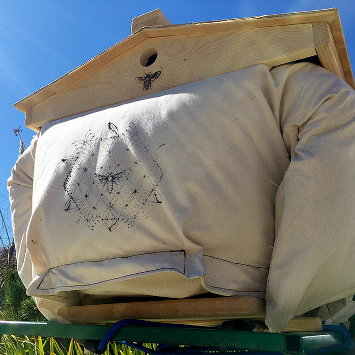 The Beehive Cozy Cover winterize your bees