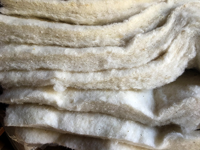 Sheep wool insulation batts for beehive
