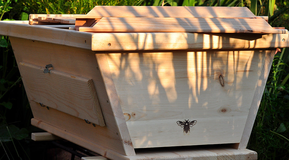The Golden Mean Top Bar Bee Hive designed by Corwin Bell