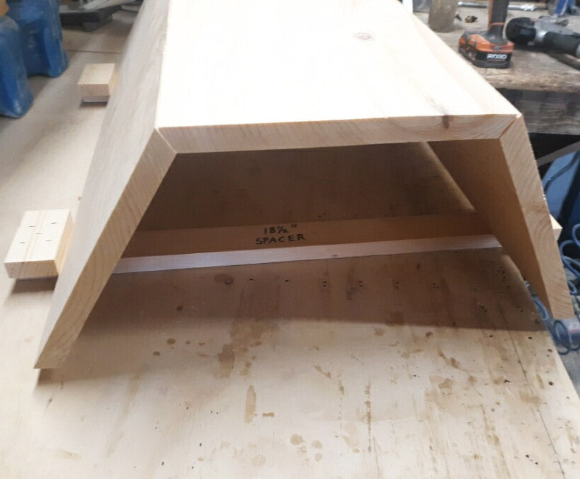 Cathedral Hive gluing sides boards with gluing spacers