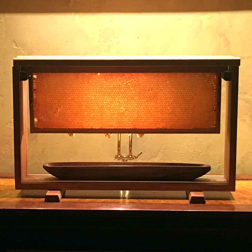 Glass Honey Comb Display Serving for Honeycomb