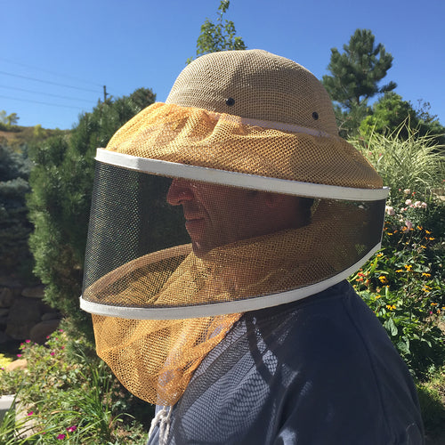 protective beekeeping gear bee helmet and veil and gloves