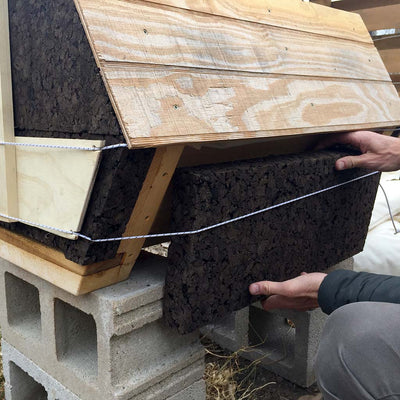 Beehive Insulation Cork Kit - Cathedral Northern Lights Hive® side