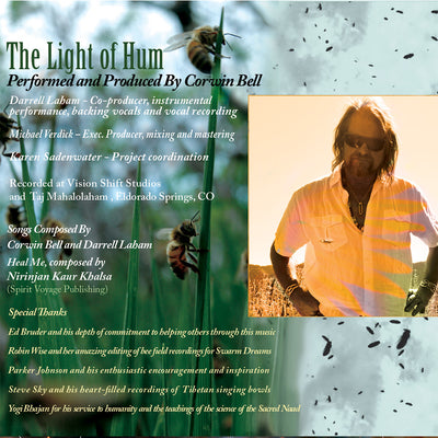 The Light of Hum - Voice of the Honeybees CD inside cover