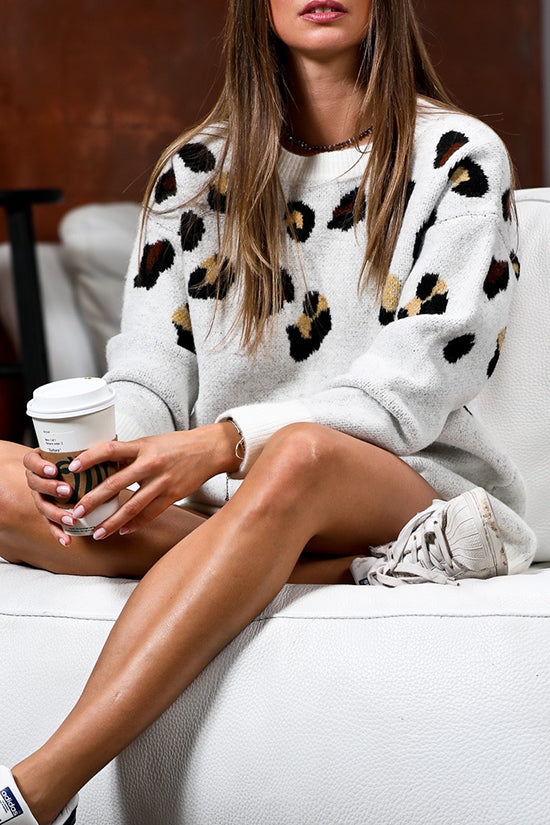 Leopard Loose Fit Sweater Top
