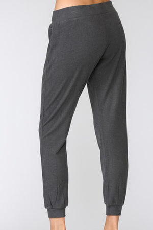 Brushed Viscose Jogger Pants